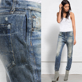 Rag & Bone - Miramar Jean Pseudo Denim Vintage Effect Digitally Printed