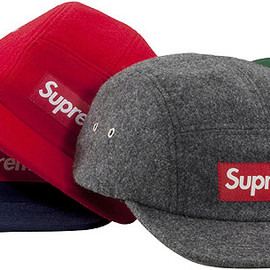 SUPREME - Woolrich Wool Camp Cap