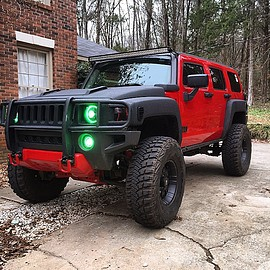 HUMMER - H3 D.Johnson's 752 RED + Chipping Protection Coated