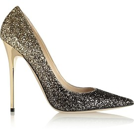 Jimmy Choo - Anouk dégradé glitter-finished leather pumps
