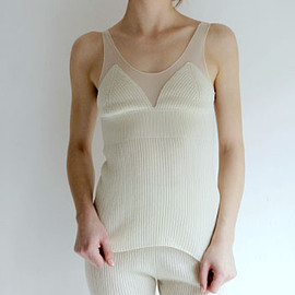 babaco - CASHMERE SILK&TULLE TANK TOP