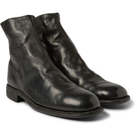 GUIDI - leather chelsea boots (bk)
