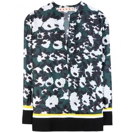 MARNI - Printed silk top