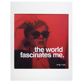 Andy Warhol - Famous Quotes,Matted Prints,The world fascinates me