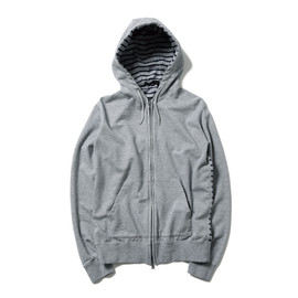 SOPHNET. - BACK PANEL BORDER ZIP UP SWEAT PARKA