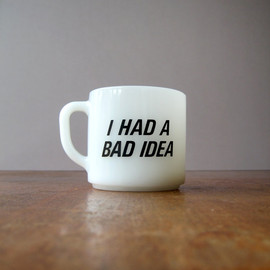 Retro Milk Glass / Milkglass Mug - I Had a Bad Idea