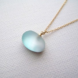 matsurica - pebble necklace - blue