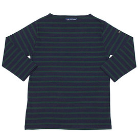 SAINT JAMES - morlaix / navy pin / 3/4sleeve
