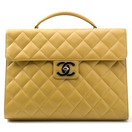CHANEL - VINTAGE quilted briefcase