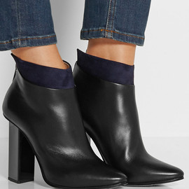 Jimmy Choo - Legion suede-trimmed leather ankle boots