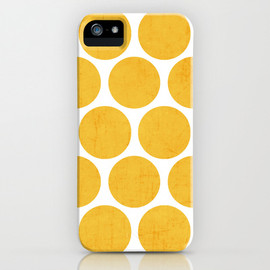 Society6 - yellow polka dots iPhone Case