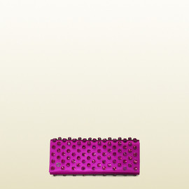 Gucci - Purple Broadway Satin Clutch With Swarovski