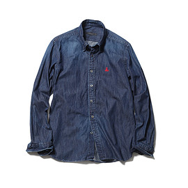 SOPHNET. - SCORPION EMBROIDERY DENIM B.D SHIRT