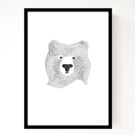seventy tree - BEAR OF FEW WORDS BLACK PRINTS - A4