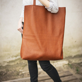 patkas - Brown Oversized Giant Tote Bag