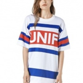 UNIF - 【UNIF/ユニフ】Logo Hockey Tee[White]