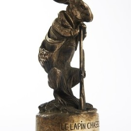 "BARYE FILS - MASCOTTE ""LE LAPIN CHASSEUR"""