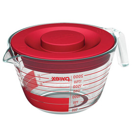 Pyrex - 8-cup Measuring Cup w/ Red Plastic Cover