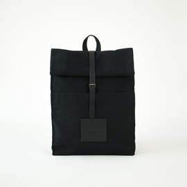 thisispaper - Top Roll Rucksack Black