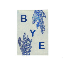 SarahMcNeil on Etsy - BYE mini zine