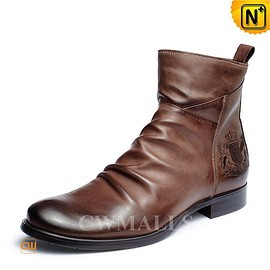 CWMALLS - CWMALLS® Mens Vintage Leather Boots CW726502