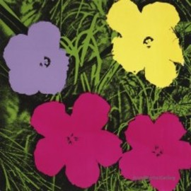 Andy Warhol - Flower 1970  Yellow, Pink, Purple