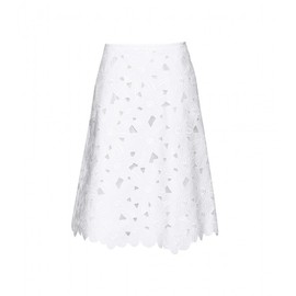 VALENTINO - EMBROIDERED SKIRT WITH CUT-OUT DETAIL