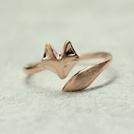 zizibejewelry - Fox Tail Adjustable Ring