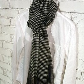 STEPHAN SCHNEIDER - 2012AW WOOL CHECK STOLE