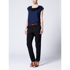 Paul Smith Women -  Navy Cowl Neck Top