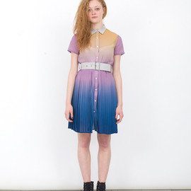 JF & SON - SHORT PLEAT SHIRT DRESS