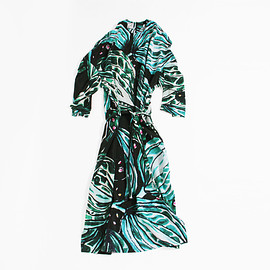 ANNTIAN - Blazer Dress Long - Leaf Print