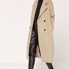 Missguided - Cocoon Double Breasted Faux Wool Coat