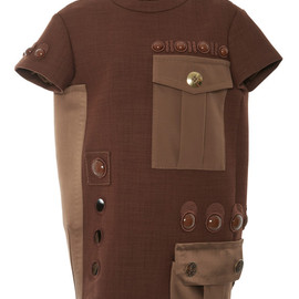 MARC JACOBS - SS2015 Rust Two Pocket Short Sleeve Dress