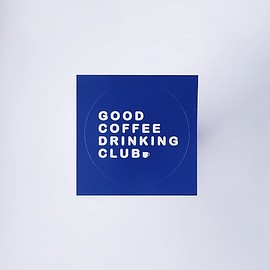 GOOD COFFEE DRINKING CLUB - GCDC basic logo sticker_navy