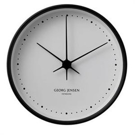 Georg Jensen - Koppel Wall Clock 22 cm (Black / White)