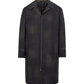 Lanvin - Checked Wool Coat