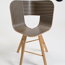 Lorenz * Kaz - Tria Wood Chair with printed seat