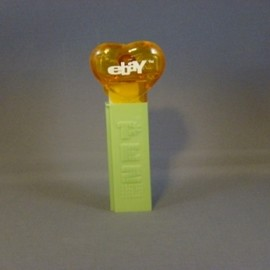 PEZ - Ebay Heart Clear Yellow