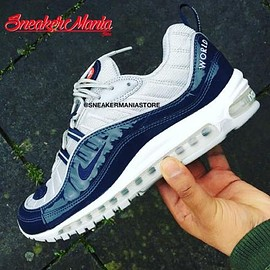 NIKE - SUPREME × NIKE AIR MAX 98 NAVY