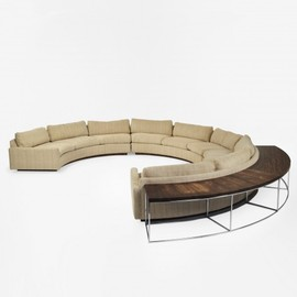 MILO BAUGHMAN - sectional sofa and table  Thayer Coggin