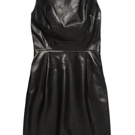 SAINT LAURENT - Open-back leather mini dress