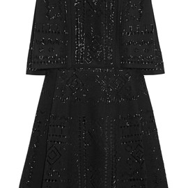 VALENTINO - FW2015 Beaded wool-felt mini dress