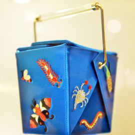 Charlotte Olympia - TAKE ME AWAY EMBROIDERED SILK CLUTCH