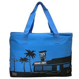 Trader Joe's - LARGE INSULATED BAG BLUE