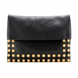 VALENTINO - GRYPHON STUDS LEATHER CLUTCH