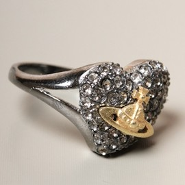 Vivienne Westwood - JEWELLERY Diamante Graphite Heart Ring