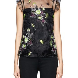 ERDEM - Mika floral embroidery organza blouse