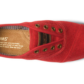 TOMS - Red Wool Women's Cordones