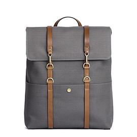Mismo - M/S Backpack – Steel Grey/Cuoio